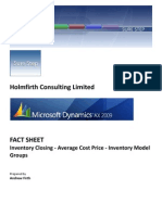 AX2009 - Fact Sheet - Inventory Closing - Average Cost Price - Inventory Model Groups v1.0