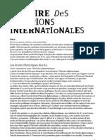 Cours Histoire Des Relations Inter Nation Ales