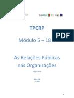 Manual - As Relações Públicas nas Organizações