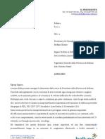 Lettera dimissioni Gianpaolo Bottacin