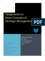 Assignment on some major concepts of Strategic Management