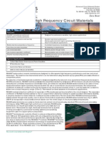 RO4000 Laminates Data Sheet