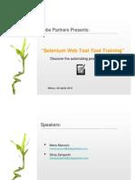 Selenium Web Test Tool - Training