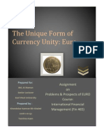Problems and Prospect With the Euro