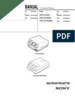 Sony Projector VPH-D50 Protocol Manu