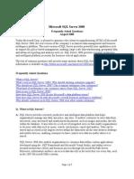 SQL Server 2008 Faq
