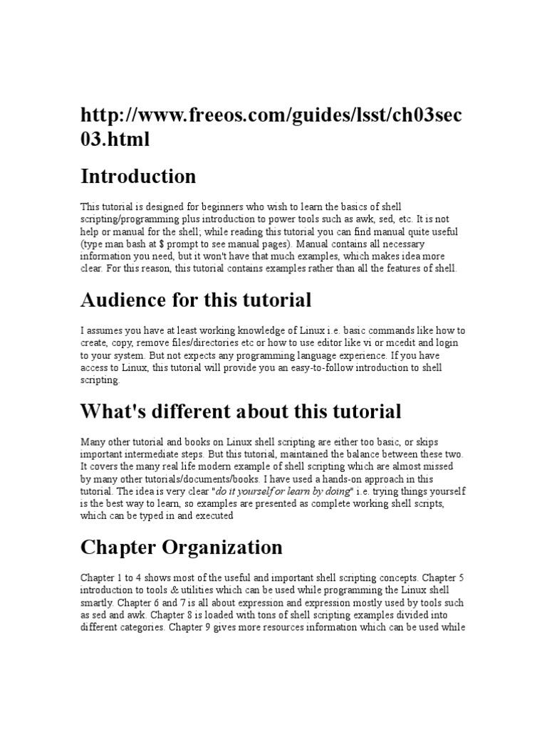 Linux Shell Scripting   Command Line Interface   Unix