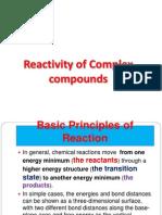 Re Activity of Complex Compounds