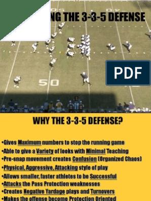 Installing The 3 3 5 Defense Sport Variants American Football