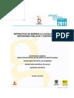 Instructivo Examen Premio Distrital a la Gestion en Salud 2011
