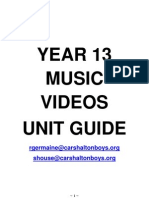 Year 13 Music Videos Booklet Final