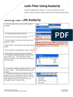 Editing Audio Files Using Audacity