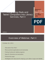 Integrating iPads and Tablet Computers into Library Services, Part 2