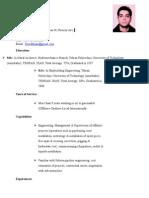CV of Masoud Yoordkhani-22-July-08