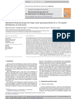 Optimized Blasting Design for Large-scale Quarrying Based on a 3-D Spatial