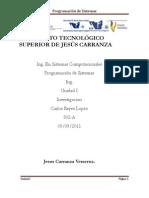 Unidad 1 Introducción a la programación de sistemas