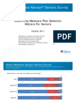 Allsup Medicare Advisor Seniors Survey Oct. 2011