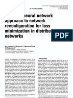 Artificial neural network approach to network reconfiguration for loss minimization in distributi
