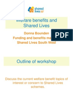 Welfare Benefits Shared Lives Workshop 1