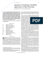Online reconfiguration considering variability demand- applications to real networks