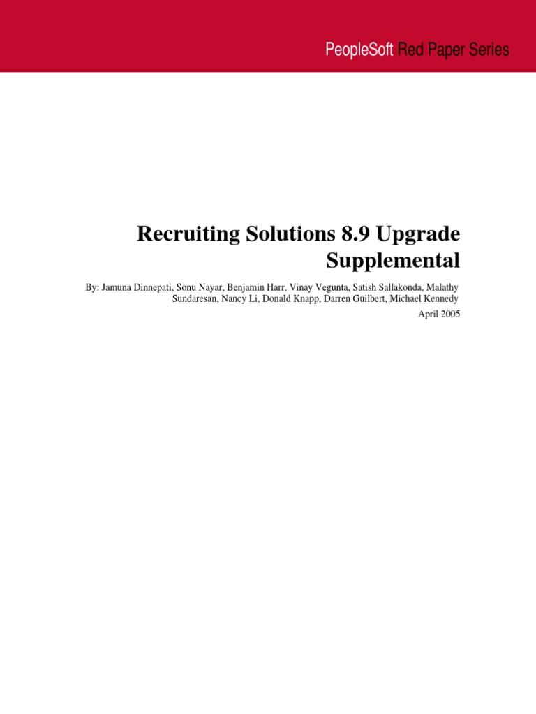 Rp Hcmrs Upgrade Supplemental Business Process Recruitment