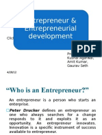 Entrepreneur & Entrepreneurial Development