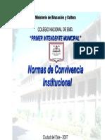 Normas de Convivencia Institucional
