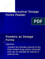 Pharmaceutical Dosage Forms-Powders