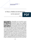 Don Quixote-Jewish Meaning