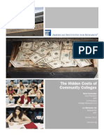 The Hidden Costs of Community Colleges - American Institutes for Research study