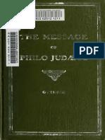 Guthrie. The message of Philo Judaeus of Alexandria. 1909.