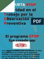 Tarjeta Stop