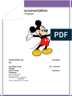 Project Documentation of Mickey Mouse Program
