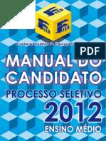 Manual Candidato Ensino Medio Fieb 2012