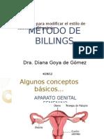 MÉTODO DE BILLINGS, CURSO PREMATIMONIAL