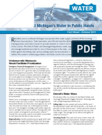 Keep Southeast Michigan's Water in Public Hands