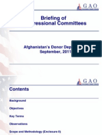 GAO _Afghan Donor Dependence | September 2011