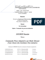 Commande Floue Adaptative par Mode Glissant d'une Classe des Systèmes Non Linéaires
