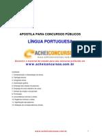 apostila para concurso público de lingua portuguesa