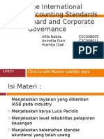 The International Accounting Standards Board and Corporate Governance
