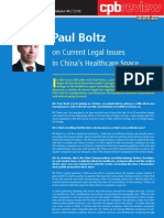 Paul Boltz on Current Legal Issues in China's Healthcare