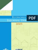 SEBRAE_IBGE_2005 Economia Informal Urbana 2003 - Completo