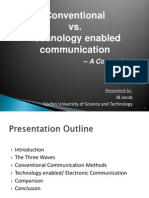 Conventional vs Technological Communication