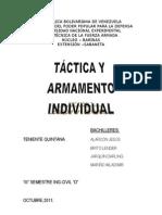 Táctica individual y armamento