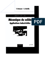 Livre Mecanique Du Solide Applications Industrielles Edit Dunod