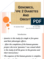 Genomics ,Type 2 diabetes and Obesty