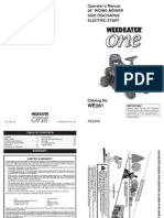 Weedeater One Service Manual