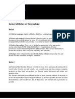 IIMEU - Rules of Procedure