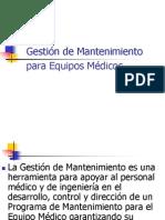 Diapositivas Gestion Del Mantenimiento Para Equipos Medicos