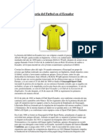 Historia Del Futbol en El Ecuador